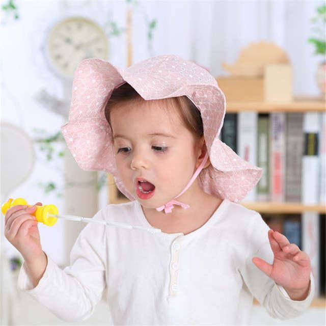 f404cf70a Online Shop Summer Baby Girls Sun Hats Children Cotton Bucket Caps ...