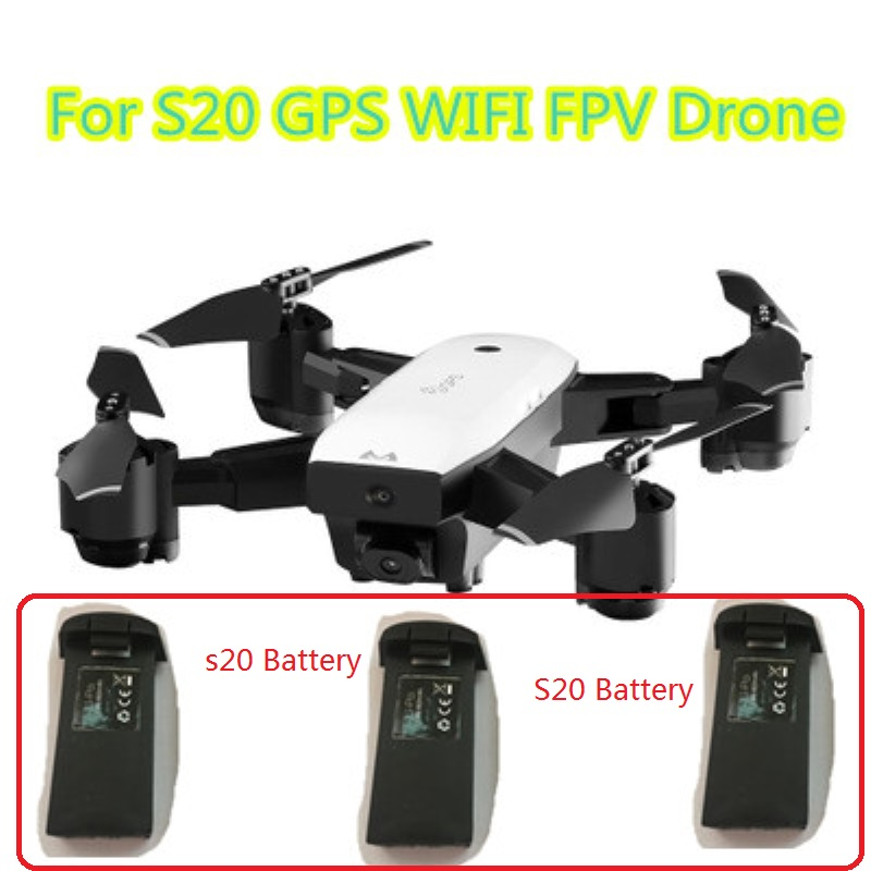 Hot sell <font><b>RC</b></font> Drone <font><b>battery</b></font> <font><b>7.4V</b></font> <font><b>900mAh</b></font> <font><b>battery</b></font> for S20 GPS WIFI FPV Remote control <font><b>RC</b></font> Drone spare parts <font><b>battery</b></font> with 3 <font><b>battery</b></font> image