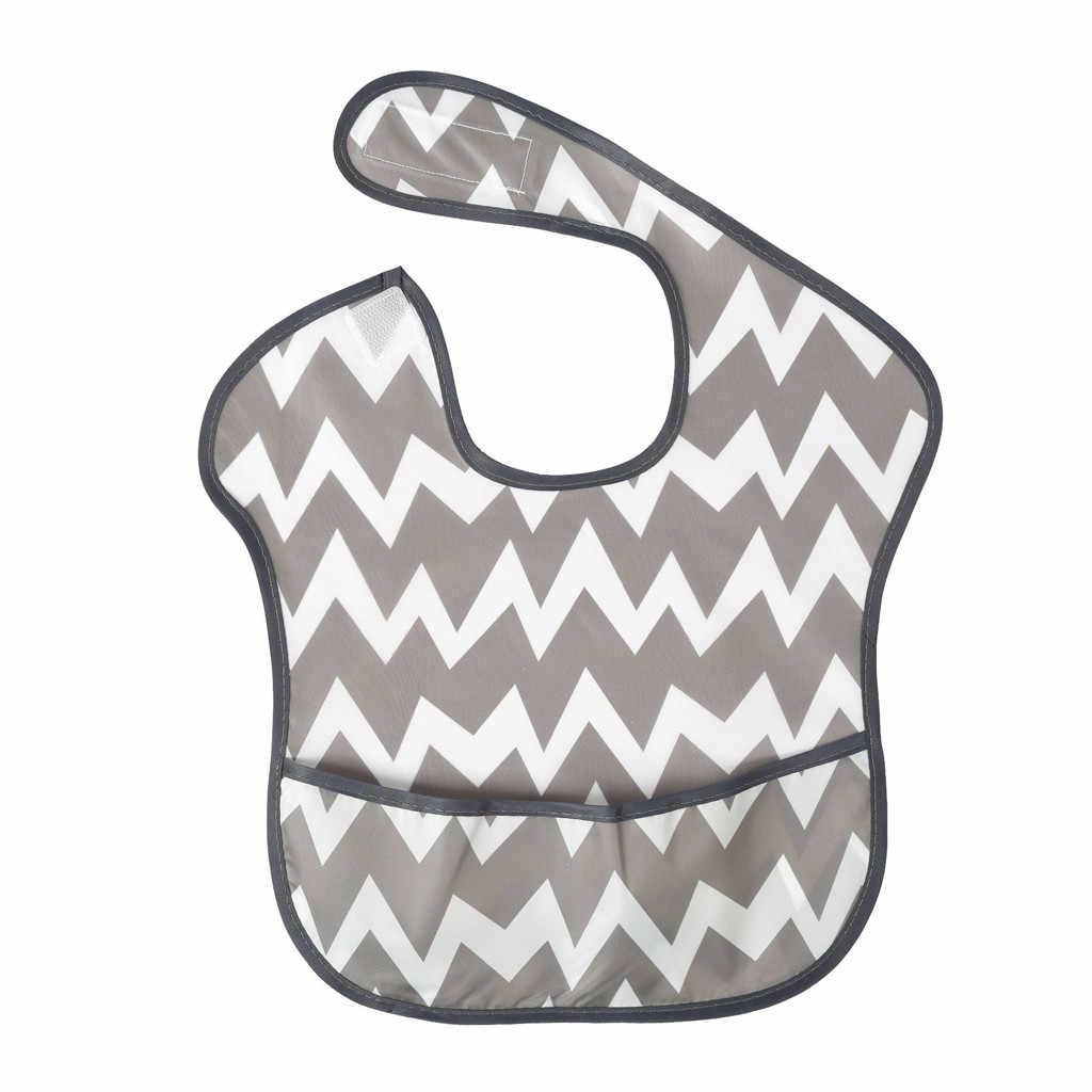 Multiple Cartoon Pattern Baby Newborn Kid Infants Waterproof Stain Resistant Bib With Pocket Saliva Towel baby pinafore