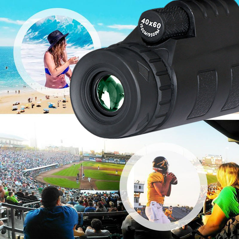Lens for phone 40X60 Zoom for Smartphone Monocular Telescope Scope Camera Camping Hiking Fishing with Compass Phone Clip Tripod 7