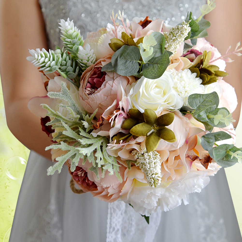 Bridesmaid Bouquet Plastic Wedding Bouquet Bridal Bouquet Artificial Flowers For Wedding Party