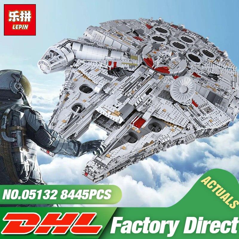 DHL Lepin 05132 Stern Spielzeug Wars Die 75192 Neue Millennuium Falcon Star Destroyer Set Bausteine Ziegel Kid Spielzeug Weihnachten geschenk