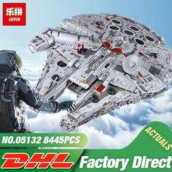 DHL Lepin 05132 Star Giocattolo Wars Il 75192 Nuovo Millennuium Falcon Star Destroyer Set di Blocchi di Costruzione di Mattoni Giocattoli Del Capretto Di Natale regalo