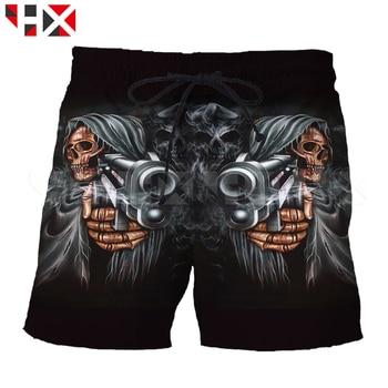 Summer Grim Reaper Shorts 3D Printed Women Men Shorts Skull Head Harajuku Streetwear Style Beach Shorts Z6