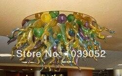 Darmowa wysyłka wielu kolorowych sztuki współczesnej ręcznie dmuchanego szkła żyrandol światła
