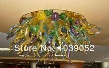 лучшая цена Free Shipping Multi Colored Modern Art Hand Blown Glass Chandelier Light