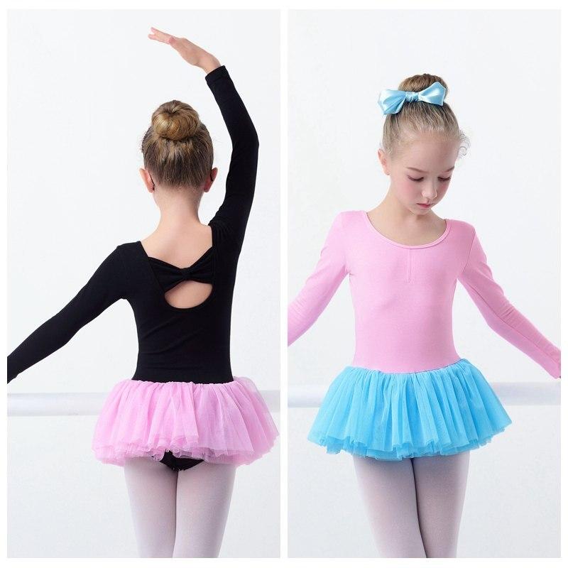 ①Niñas niños Ballet Tutu vestido rosa algodón danza Tulle Skirted ...