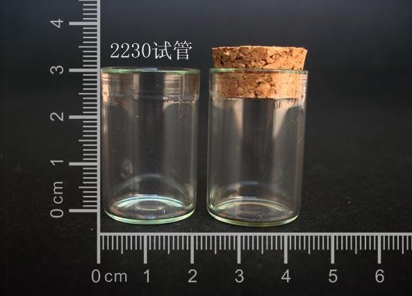 10 pcs 6ml 22x30mm Small Clear Glass Tube Vial Pendant With Cork and Hook For Wedding Holiday Decoration Christmas Gifts