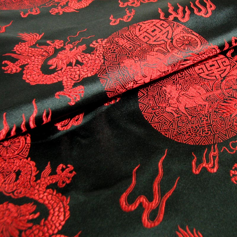 Online buy wholesale black dragon fabric from china black for Dragon fabric kids