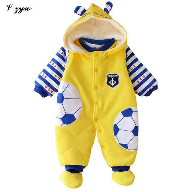 Winter Warm Thicken Newborn Baby Rompers Infant Clothing Cotton Baby Jumpsuit Long Sleeve Boys Rompers Costumes Baby Romper