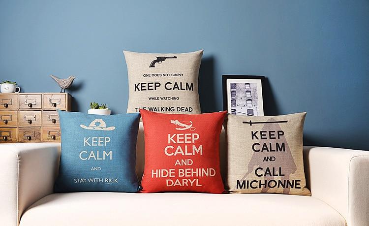 Keep Calm Series For Sofa Seat Cushion Pillows The Walking Dead Rhaliexpress: Walking Dead Home Decor At Home Improvement Advice