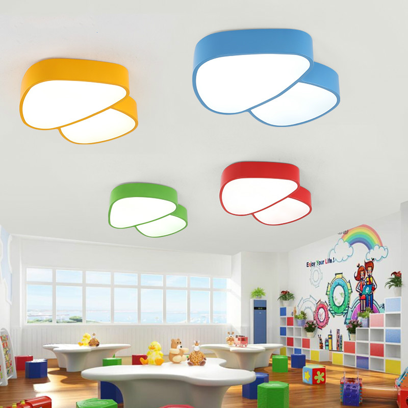 Modern colorful iron mushroom children bedroom led ceiling lamp home deco creative kid's room acrylic ceiling light fixture scandinavian creative color balloon personalized acrylic modern minimalist ceiling lamp nursery children room bedroom light