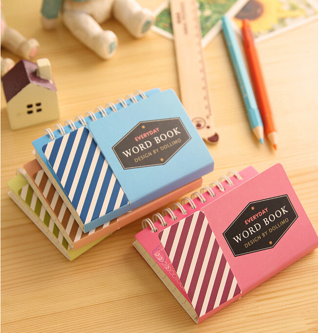 I21 1X Candy Color Vocabulary Word Book Recite Portable Notebook Sketchbook Stationery School Office Supplies Papelaria Filofax