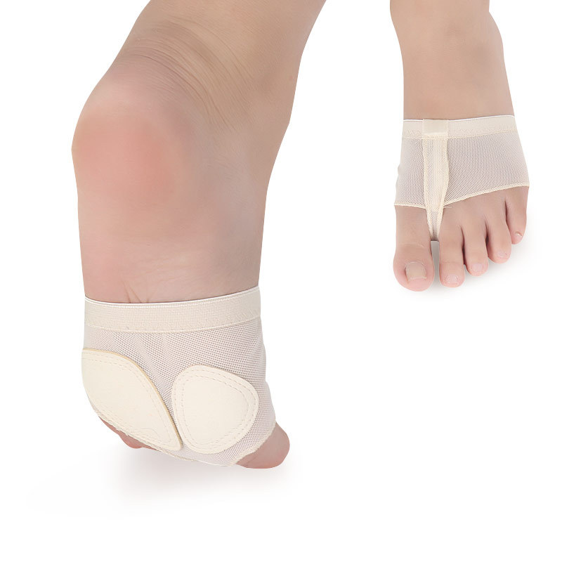 USHINE Professional Belly Ballet Dance Toe Pad Practice Shoes Foot Thong Care Tool Half Sole Gym Socks Ballet Dance Shoes Woman
