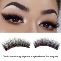 5 Magnetic False Eyelash Set Magnetic Fake Eyelashes Eyeliner Liquid Eye Lashes Tweezers Kit