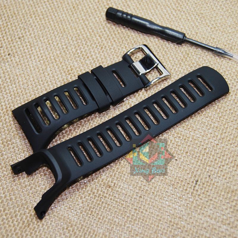 Prix pour Suunto Ambit 1 2 2R 2 S de 24 mm hommes montre étanche bracelet en caoutchouc bracelet boucle en acier avec tournevis
