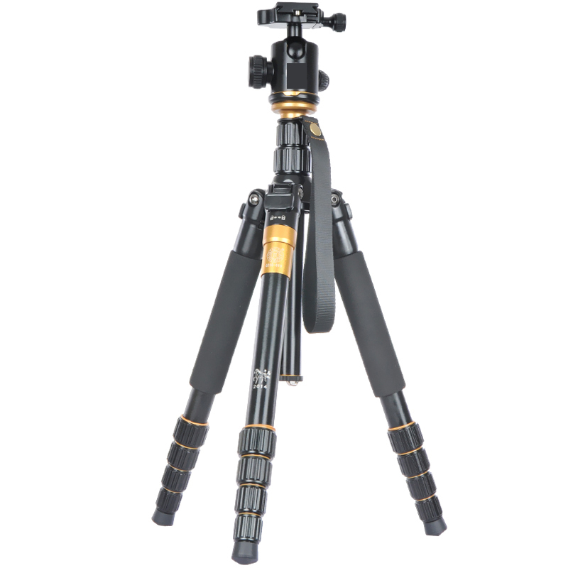 Fotopal EACHSHOT Q666 QZSD Q-666 Aluminium Tripod & Monopod For DSLR Camera Max load 15kg with Q-02 ball head Better than Q999S aluminium alloy professional camera tripod flexible dslr video monopod for photography with head suitable for 65mm bowl size