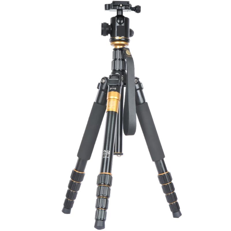 Prix pour Fotopal EACHSHOT Q666 QZSD Q-666 Trépied En Aluminium Manfrotto & Pour DSLR caméra Max charge 15 kg avec Q-02 rotule Mieux que Q999S