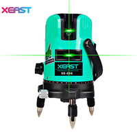 XEAST XE 52G 5 Line 6 Point Green Laser Level 360 Degree Rotary Cross Laser Line