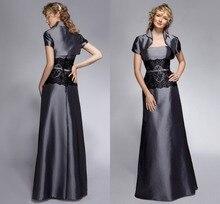 Kleider Begrenzte Verkauf Elegante Lange Satin Abendkleid Kleid Jacke 2015 Kurzarm Abend Formale Mit Ärmeln bodenlangen Keine