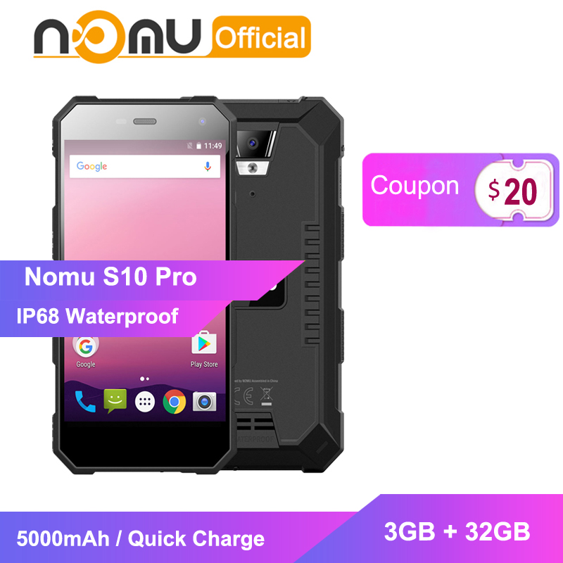 Nomu S10 Pro Shockproof mobile phone IP68 Waterproof smartphone MTK6737T Quad Core 3GB 32GB 8MP 5000mAh