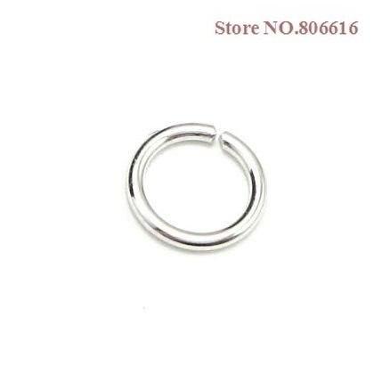 1000 шт микс(4 мм 6 мм 8 мм 10 мм) металл серебристого цвета Сплит кольцо открытый прыжок кольца ювелирные изделия фурнитура Аксессуары