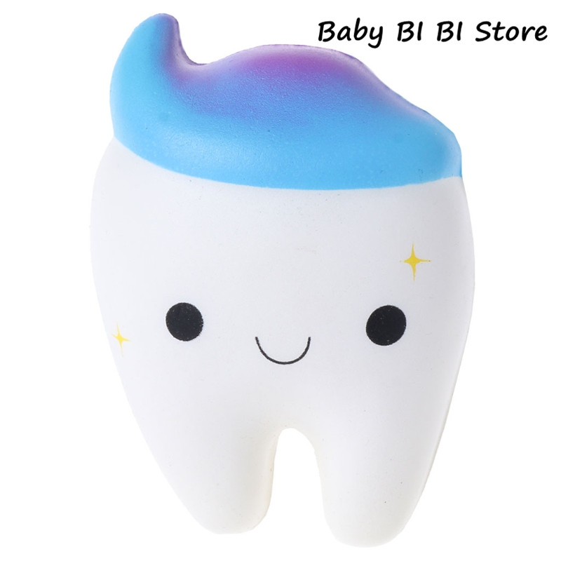 Squishy Rainbow Tooth Slow Rising Stress Squeeze Toys Gift Decoration Squeeze Ball Squishy