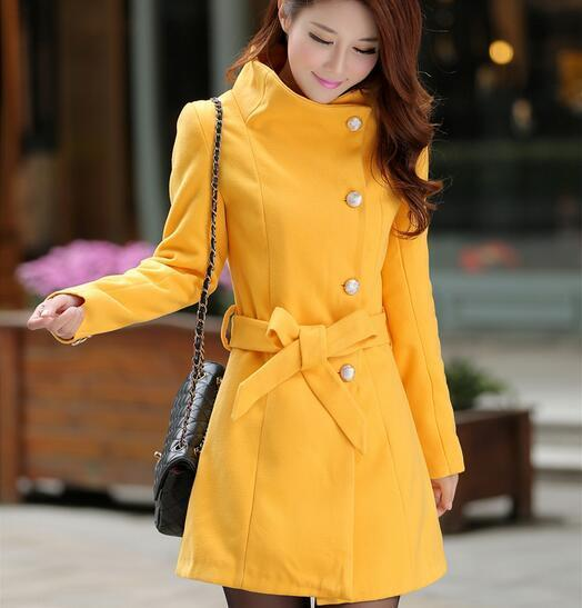 The new women's long cultivate one's morality thickening coat dust coat YEU