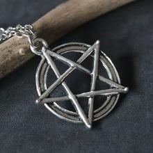 Supernatural Pentacle Necklaces Pentagram Pendant Statement Necklace Men Star Amulet Chain Talisman Protection