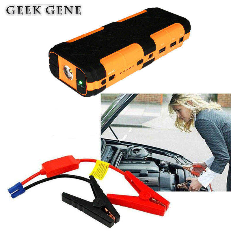 New Emergency 12V Car Jump Starter Portable Power Bank Charger for Car Battery Booster Buster Petrol Diesel Starting Device 2017 multi function starting device 12v car jump starter portable power bank charger car battery booster buster petrol diesel