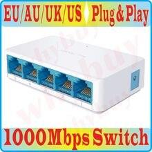 Miniconmutador de red Gigabit de alta velocidad, 5 puertos, RJ45, 1000Mbps, red Ethernet rápida, concentrador, divisor, SG105C, más pequeño, SG105M