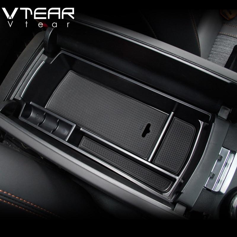1PCS Black Front Central Armrest Interior Storage Box For Peugeot 3008 GT 2017