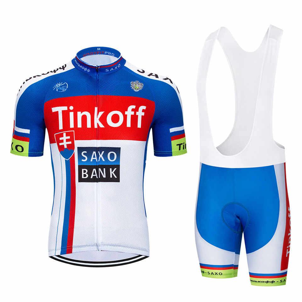 cycling wear Mens Maillot SaxoBank Tinkoff Cycling Jerseys Quick-Dry Ropa  MTB Ciclismo Cycling b68016152