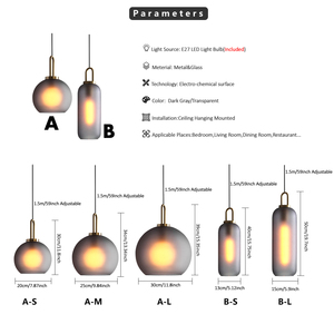 Image 2 - Vintage Postmodern Nordic Pendant Lights Creative Suspended Glass Jar Hanging Lamp Dining room Restaurant Bar Pendant Light