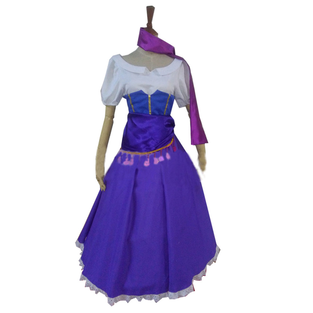 웃 유2018 Esmeralda vestido de lujo El Jorobado de Notre Dame adulto ...