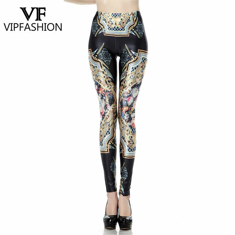 6a13530ee4388 Detail Feedback Questions about VIP FASHION Women Bohemia Leggings Cartoon  Printed Leggins high Stretch Girls Legging Punk Rock Leggin Disco Pants on  ...