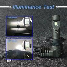 2 pcs h7 Led Car Headlight P10 H7 H11 9005 9006 9012 F2 H11/H8/ H4 9V-32V 6400LM 6500K Lamps Bulbs