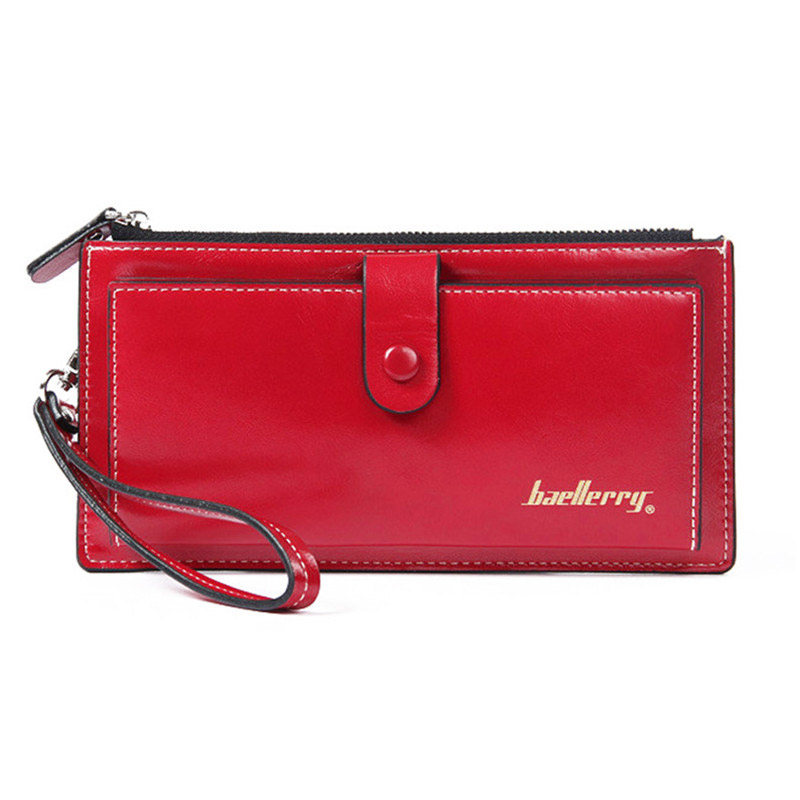 Baellerry Top Leather Women Wallets Long Zipper Ladies Purse Big Wallet Women Card Holder Wristlet Wallets Female Clutch Bag