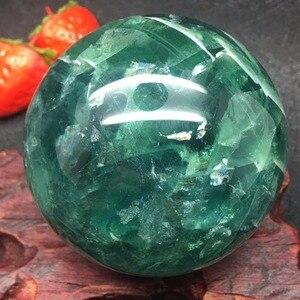 Image 4 - טבעי פלואוריט קוורץ קריסטל כדור כדור ריפוי