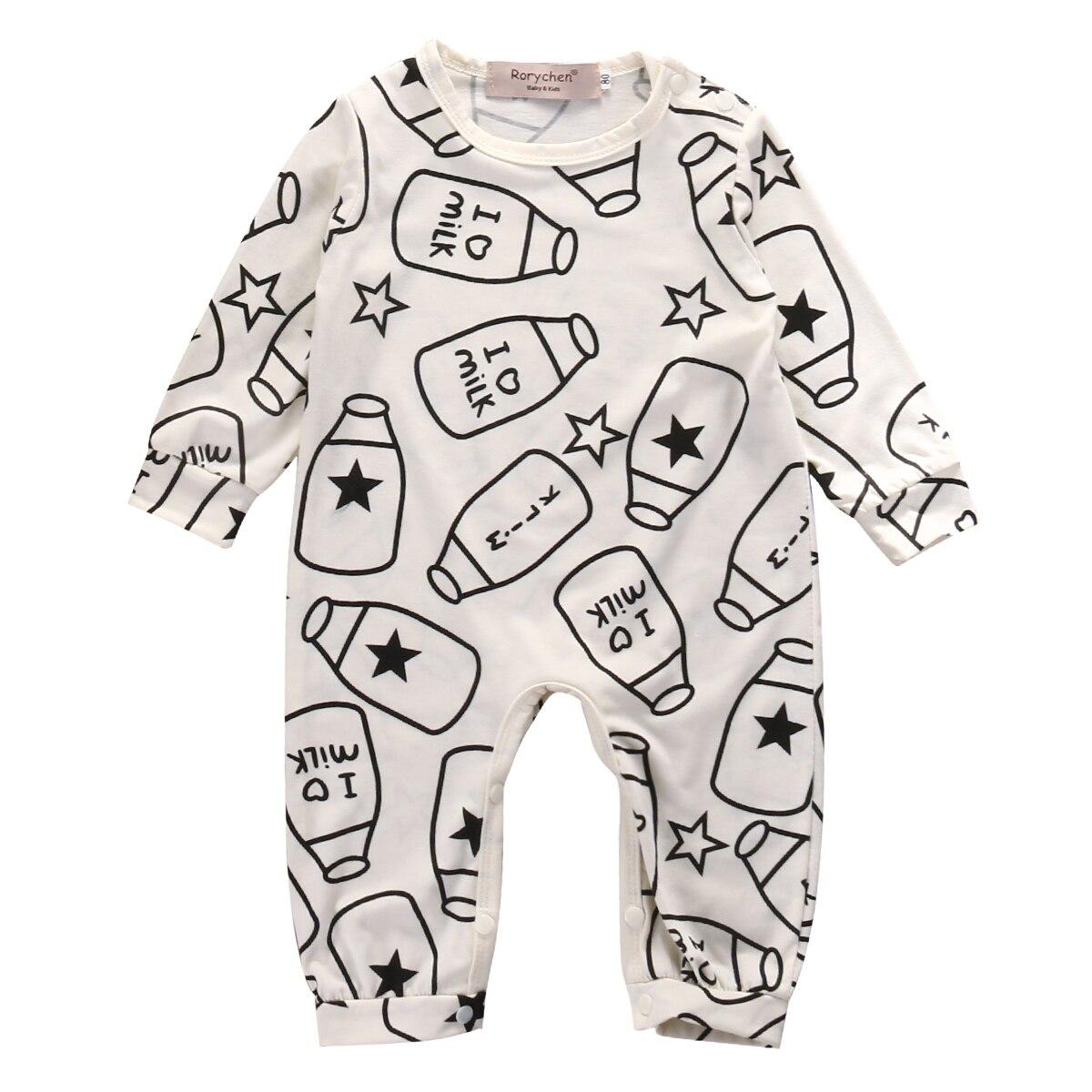 Newborn Baby Clothes Romper Boys Girls Cute Jumpsuit Milk Bo