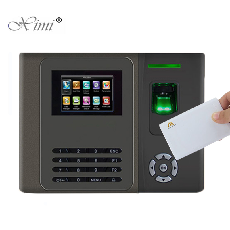 Free Shipping Biometric Fingerprint Time Attendance Time Clock TCP/IP Fingerprint Time Recording With 13.56MHZ MF Card Reader