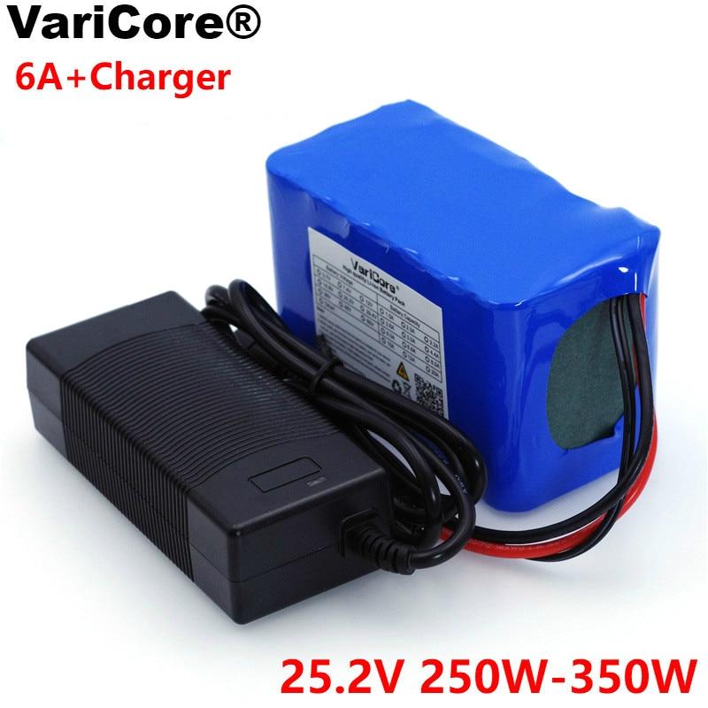 VariCore 24 V 6 Ah 6S3P 18650 batterie au Lithium batterie 25.2 v vélo électrique cyclomoteur/électrique/Li ion batterie + 1A chargeur