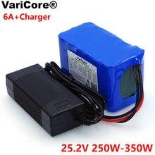 Varicore 24v 6ああ6S3P 18650バッテリーリチウム電池25.2 v電動自転車原付/電気/リチウムイオンバッテリーパック + 1A充電器