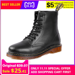 65a01cd3d58 DESERT RAM Brand Men s Boots Martens Leather Winter Warm Shoes Motorcycle  Mens Ankle Boot Doc Martins
