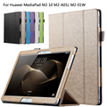 Protective Shell/Skin protective Leather Case For Huawei MediaPad M2 10 M2-A01W M2-A01L 10.1'' Tablet PC dormancy + Film + Pen
