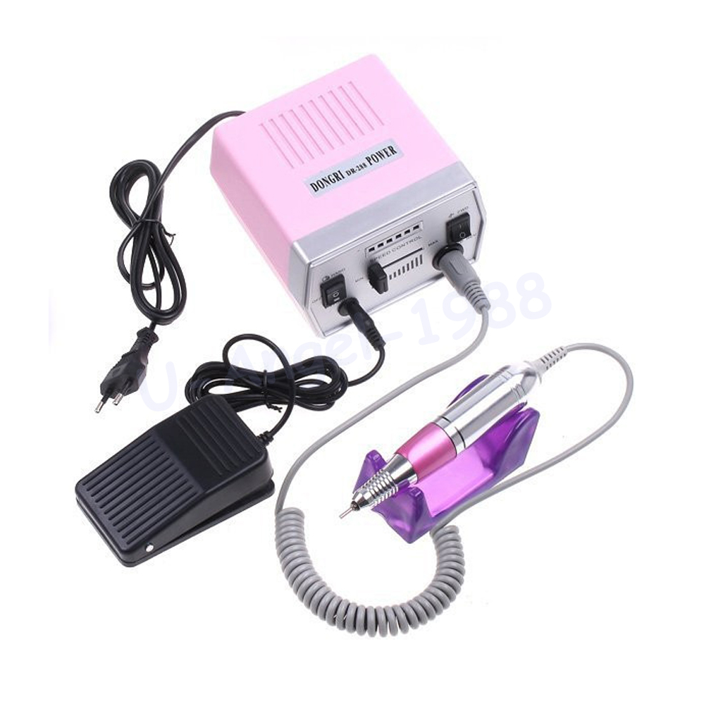 Register Free shipping !! Manicure Pedicure Nail Art File Drill Electric 30,000 RPM Machine Salon 220V 2014 new free shipping dual display hk 809 with waistbelts machine for pedicure