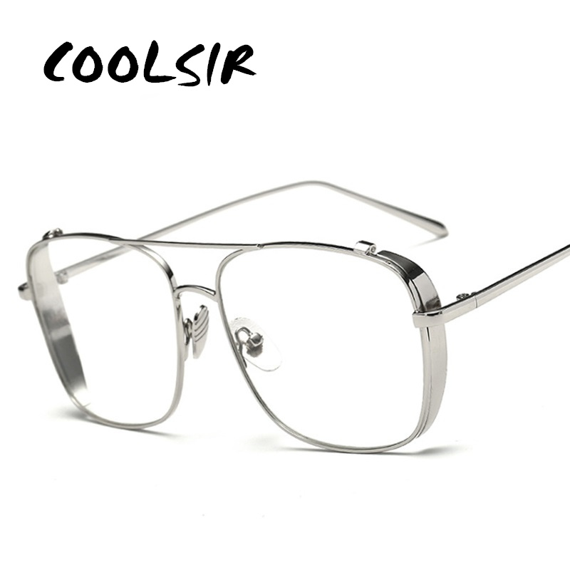 COOLSIR Optical Alloy Glasses Frame Women Men Oversized Transparent Eyeglasses Frames Myopia Glasses Male Female Eyewear in Men 39 s Sunglasses from Apparel Accessories