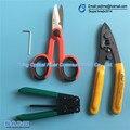 4 ШТ. FTTH Сращивания волоконно-оптического инструмента Волоконно-Оптических инструментов Pixian Fibre зачистки + оптическое волокно + RUBICON Кевлар RCZ-527 ножницы