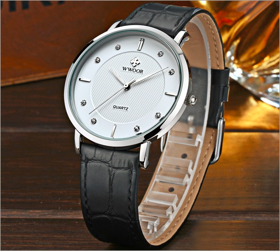 New Top Brand Men Sports Watches Men's Quartz Ultra Thin Clock Genuine Leather Strap Casual Wrist Watch Male Relogio Waterproof 7