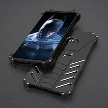 Luxury Aluminum Metal Case For Huawei Y9 2019 Back Cover Batman Element Hard Protection Cover For Huawei Y9 2019 Shockproof Case(China)